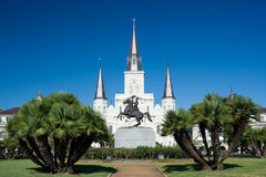 Saint Louis Cathedral. Jackson Square and Saint Louis Cathedral, New Orleans Stock Images