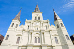 Saint Louis Cathedral. Close up view of beautiful Saint Louis Cathedral in the French Quarter in New Orleans, Louisiana Stock Photos