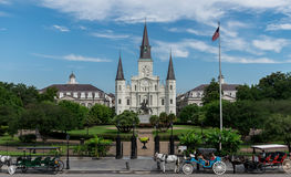 Saint Louis Cathedral de Nova Orleães Foto de Stock Royalty Free