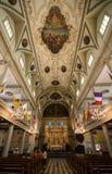 Saint Louis Cathedral Interior Main Naive de Nova Orleães fotos de stock royalty free