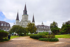 Saint Louis Cathedral and Jackson Square Royalty Free Stock Photography