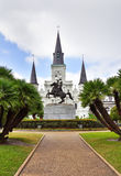 Saint Louis Cathedral and Jackson Square. New Orleans Royalty Free Stock Photography