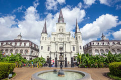 Saint Louis Cathedral in New Orleans, Louisiana. Stock Photo