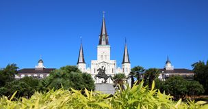 Saint Louis Cathedral in New Orleans, Louisiana Stock Photos