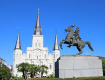 Saint Louis Cathedral in New Orleans, Louisiana royalty free stock images