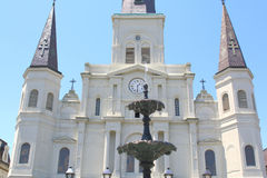 Saint Louis Cathedral and statue Royalty Free Stock Photo