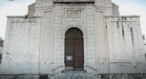 Saint Louis Church in the upstate of Sete, France. Sete, France - January 4, 2019: Architectural detail of the Saint Louis Church in the upstate of the city on a royalty free stock images