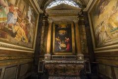 Saint Louis des Francais kościół, Rzym, Włochy obrazy stock