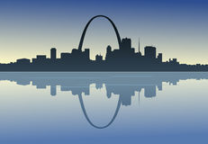 Saint Louis Downtown Riverfront Royalty Free Stock Photo