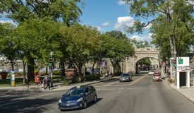 The Saint-Louis gate entering Old Quebec royalty free stock photos
