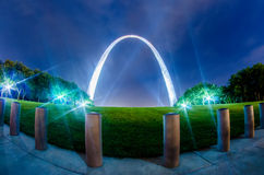 Saint louis gateway arch and downtown  skyline Stock Image