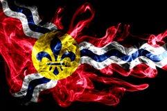 Saint Louis miasta dymu flaga, Missouri stan, Stany Zjednoczone Am zdjęcie stock
