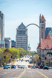 Saint louis missouri downtown at daylight Royalty Free Stock Images