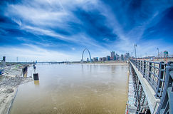 Saint louis missouri downtown at daylight Royalty Free Stock Photo