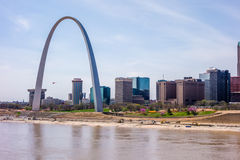 Saint louis missouri downtown at daylight royalty free stock image
