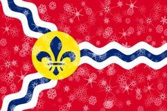 Saint Louis Missouri vintersnöflingor sjunker bakgrund Amerika tillstånd förenade royaltyfri illustrationer