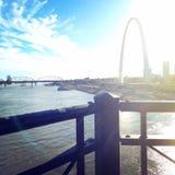 Saint Louis, Mo arco fotografia stock libera da diritti