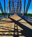 Saint Louis, MO EUA - corrente da ponte das rochas Fotografia de Stock