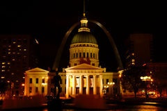 Saint Louis by night Royalty Free Stock Images