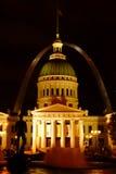 Saint Louis par nuit Photographie stock