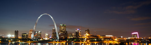 Saint Louis. Picture shows the skyline of the city St. Louis, USA Stock Image