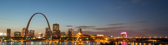 Saint Louis. Picture shows the skyline of the city St. Louis, USA Royalty Free Stock Photography