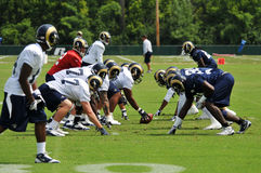Saint Louis Rams Football team during practice Stock Images
