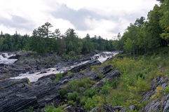 Saint Louis River Fork em Jay Cooke Imagem de Stock Royalty Free