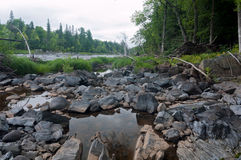 Saint Louis River and Rocky Shore Royalty Free Stock Photo