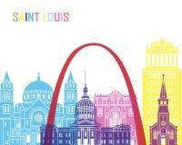Saint Louis skyline pop Royalty Free Stock Photography