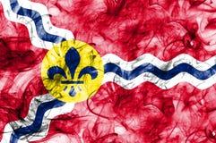 Saint Louis-Stadt-Rauchflagge, Staat Missouri, Vereinigte Staaten von morgens Lizenzfreies Stockbild