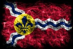Saint Louis-Stadt-Rauchflagge, Staat Missouri, Vereinigte Staaten von morgens Lizenzfreie Stockfotos