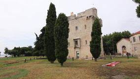 Saint Louis tower in Port Saint Louis du Rhone. stock footage