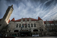 Saint Louis Union Station Hotel. The front of the beautiful castle-like Union Station Hotel in Saint Louis, Missouri Stock Photography