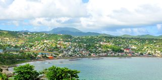 Saint Lucia. Aerial view of the Saint Lucia Atlantic coast Royalty Free Stock Photos