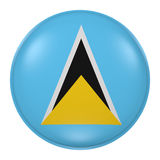 Saint Lucia button Royalty Free Stock Photography