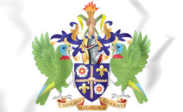 Saint Lucia Coat of Arms. Royalty Free Stock Photos