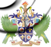 Saint Lucia Coat of Arms. Stock Photography