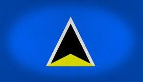 Saint Lucia flag Royalty Free Stock Photography