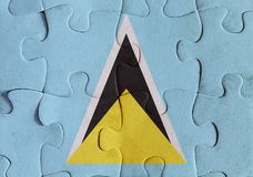 Saint Lucia flag puzzle Royalty Free Stock Image