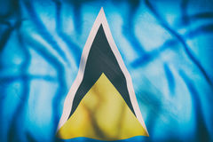 Saint Lucia flag waving Royalty Free Stock Images