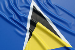 Saint Lucia flag Stock Photo