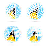 Saint Lucia halftone flag set patriotic vector. Stock Photography