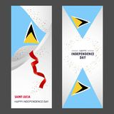 Saint Lucia Happy independence day Confetti Celebration Background Vertical Banner set. This Vector EPS 10 illustration is best for print media, web design royalty free illustration