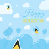 Saint Lucia Independence Day Flat Patriotic Image libre de droits
