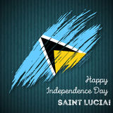 Saint Lucia Independence Day Patriotic Design Images stock