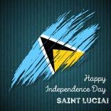Saint Lucia Independence Day Patriotic Design Image libre de droits