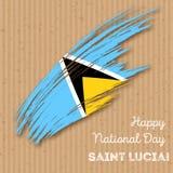 Saint Lucia Independence Day Patriotic Design Photos stock