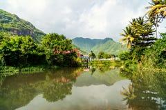 Saint Lucia island landscape. Beautiful landscape of Saint Lucia island in Caribbean royalty free stock images