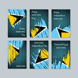 Saint Lucia Patriotic Cards para o dia nacional ilustração stock